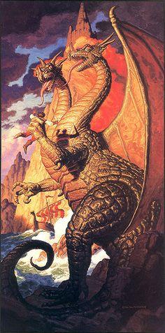Tim Hildebrandt -  The Dragon's Keep by Aeron Alfrey, via Flickr