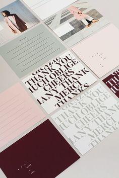 Minimalist stationery design and branding. Web Design, Layout Design, The Design Files, Book Design, Design Art, Design Brochure, Graphic Design Branding, Corporate Design, Identity Design