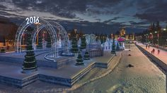 Ice Rink on VDNH #Clouds, #Constructions, #Constructs, #Decorations, #Dusk, #Motion, #Pavilion, #People, #PineTree, #Skating, #Sky, #Snow, #Time, #TwoThousandAndSixteen, #VahVmg, #Winter http://goo.gl/1oCGCZ