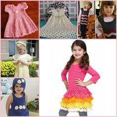 16 Patterns for Cute Crochet Girls Dresses