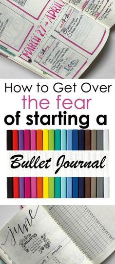 Learn how to get over the fear of starting a bullet journal with these tips and pointers