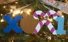Wooden XoXi Christmas IttXi Letters. Classic AXiD colors.
