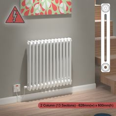 Our range of Kudox designer heating products include the multi column Evora Electric radiators finished in gloss white vertical or horizontal models.