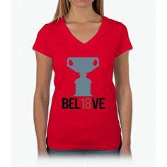 BEL18VE [AUSTRALIAN OPEN 2017] Womens V-Neck T-Shirt