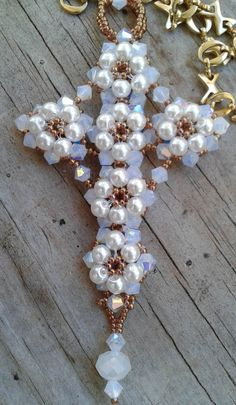 Fine Hand Beaded Jewelry Cards Scrapbooking Hand Made Gifts Jewelry Homemade Jewelry Making Beads, Diy Jewelry, Beaded Jewelry, Handmade Jewelry, Jewellery, Jewelry Ideas, Jewelry Patterns, Beading Patterns, Beaded Cross