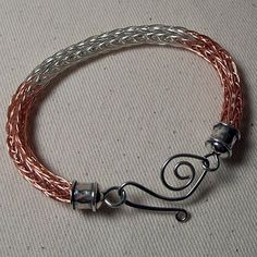 Northern Adornments Copper and Silver Viking Knit