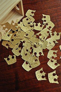 Royal Prince Baby Shower Decorations. Crown Confetti. 50CT.
