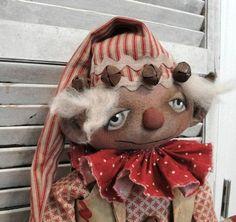 Christmas Elf Doll, Primitive Christmas, Christmas Ornaments, Christmas Time, Christmas Ideas, Craft Patterns, Doll Patterns, Sewing Patterns, Primitive Folk Art