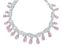 Luxury Magazine - www.luxurymagazine.org - Tiffany & Co. necklace of amethyst drops, diamonds, platinum and 18 karat gold