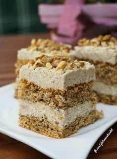 Hungarian Desserts, Hungarian Recipes, Torte Cake, Cake Bars, Traditional Cakes, Sweet Cookies, Healthy Cake, Almond Cakes, Sweet And Salty