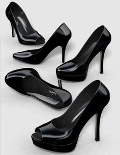 Five pairs of pumps | Footwear for Poser and Daz Studio