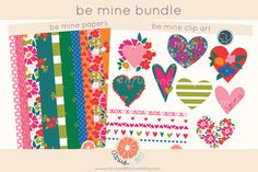 Check out Hearts Clip Art/Paper Bundle by Citrus and Mint on Creative Market