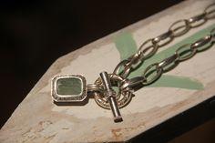My other favorite Slane piece. Adventurine bee on Slane sterling link necklace