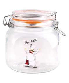 Look what I found on #zulily! 4.5'' Glass Chef Canister #zulilyfinds