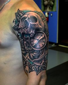 Skull Tattoos 16 - 80 Frightening and Meaningful Skull Tattoos <3