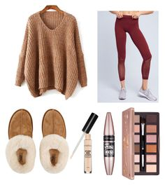 """""""Let's be lazy"""" by kadence0206 on Polyvore featuring adidas, UGG, Smashbox, Maybelline and BHCosmetics"""