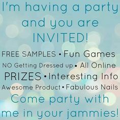 Book a Jamberry Facebook Party with me and earn some FREE and HALF-PRICED items! Click on the picture to reserve a date!