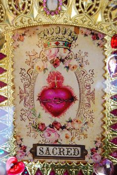 Sacred Heart Shrine Forever Pink - by Julia at ReligiousJules