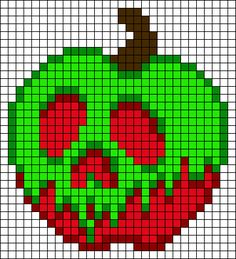 Poison Apple Snow White perler bead pattern