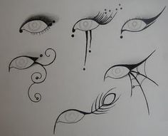 "egyptian eyeliner ""stencils""  This would be good for Halloween"