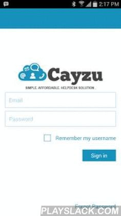 Cayzu Help Desk  Android App - playslack.com ,  Cayzu is a cloud-based help desk software solution designed to manage customer service for small and medium sized businesses. Cayzu features include ticket management, Facebook & Twitter integration, mobile apps, real-time reporting, and instant notifications; manage multiple brands from a single portal and more. Forget complicated and expensive licensing and take control of your support with pricing starting at FREE forever for 3 agents.