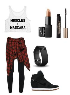 """vixen workout"" by janetljones on Polyvore featuring NIKE, Peace of Cloth, Faith Connexion, NARS Cosmetics, Fitbit and L'Oréal Paris"