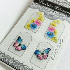 Cores que amo!❤ https://www.facebook.com/mitchyepalladini #nails #polishgirl #unhas #unhasdecoradas #butterflies #euquefiz #mipalladini