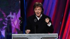 Paul McCartney,When it came to handing the Rock and Roll Hall of Fame's Award for Musical Excellence out to Ringo Starr, there was certainly no one more appropriate for the task than Paul McCartney.  Read more: http://www.rollingstone.com/music/news/ringo-nailed-it-paul-mccartney-inducts-starr-into-rock-hall-of-fame