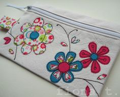 embroidered flowers purse £15.00