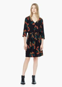 Belt printed dress -  Women | MANGO