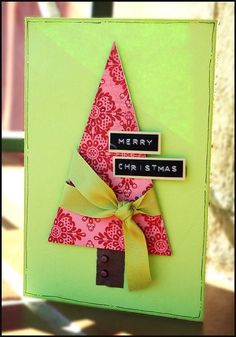 A basic but classic easy #homemade #christmas #card