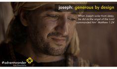 #AdventWonder - Joseph: generous by design. Part of Stewardship's email series: www.stewardship.org.uk/advent Matthew 1, Advent, Joseph, Prayers, Lord, Fictional Characters, Ideas, Design