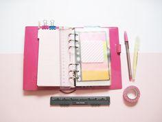 """Mi Filofax rosa """"plasticosa"""" que es todo amor! #agenda #anillas #filofax #decorar"""
