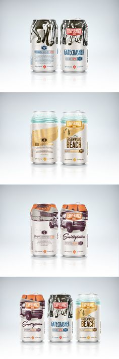Temperance Beer Co. — The Dieline - Branding & Packaging Design... - a grouped images picture - Pin Them All