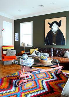 Oversized artwork in the living room