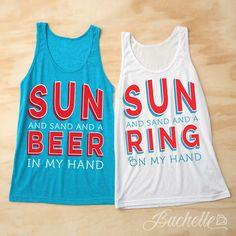 Hang Loose Bachelorette Shirts Beach Party Wedding