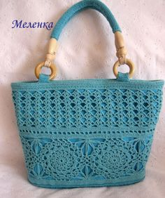 Best 12 RED Valentino Leather and Crochet Raffia Tote Bag Mode Crochet, Crochet Tote, Crochet Handbags, Crochet Purses, Knit Crochet, Crochet Stitches, Crochet Video, Tan Bag, Linen Bag