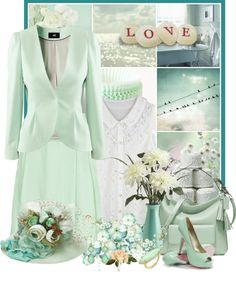 """minty"" by countrycousin ❤ liked on Polyvore"
