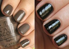 Love this matte & glossy taupe french manicure. #nails #nailpolish #manicure