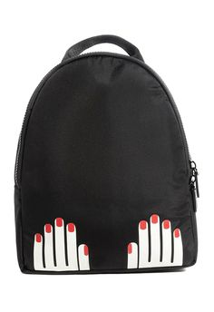 9cf26d9e4940 Lulu Guinness backpack with hands motif available on ASOS Lulu Guinness