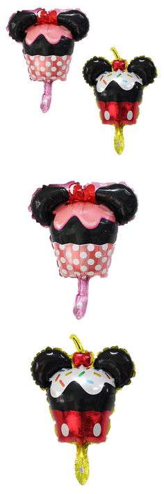 [Visit to Buy] BINGTIAN Mini Minnie mickey cake Foil Balloons Wedding decoration child Celebration birthday kids Balloon party supplies #Advertisement