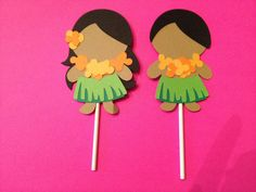 Luau Hawaiian Cupcake Toppers  Birthday Party by PaperPartyGirls, $5.00 for 8 - Banana's Party