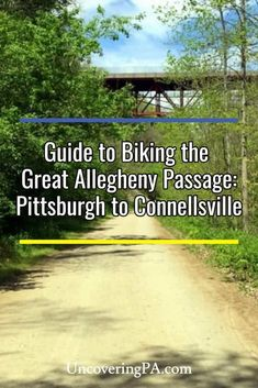 Planning to bike the Great Allegheny Passage from Pittsburgh to Connellsville and beyond? Check out my full guide to this amazing rail trail in southwestern Pennsylvania. Bike Run, Bike Rides, Westmoreland County, Bike Trails, Hiking Trails, Urban Bike, Great Lakes, Outdoor Fun, Travel Usa
