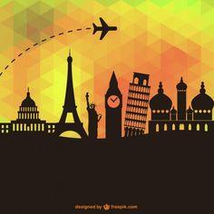 Tourism Vector Geometric Design - Free Transport Vector Download