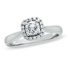 5/8 CT. T.W. Diamond Engagement Ring in 14K White Gold
