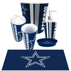 Dallas Cowboys NFL 6pc Bath Accessories Set