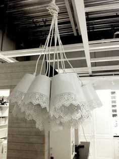 Wednesday DIY - simple cluster pendant lamp from IKEA