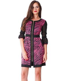 Loving this Fuchsia Zebra Dress on #zulily! #zulilyfinds