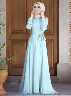 Shop Wrap Dress - Mint in Dresses category. Modanisa your online muslim modest fashion store. Islamic Fashion, Muslim Fashion, Modest Fashion, Fashion Dresses, Trendy Fashion, Cheap Lace Wedding Dresses, Maxi Dress Wedding, Modest Wedding, Wedding Bride