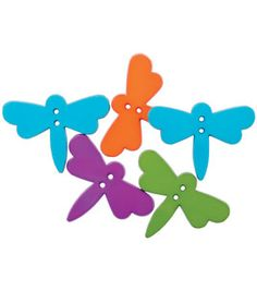 Favorite Findings Buttons- Dazzling Dragonflies 5/Pkg & theme & novelty buttons at Joann.com $2.29
